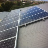Solar panel installation at Geelong residential